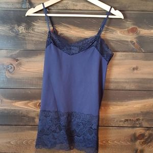 WHBM Navy Lace Camisole